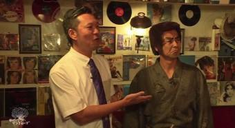 来店した護得久栄昇先生と仲座健太さん