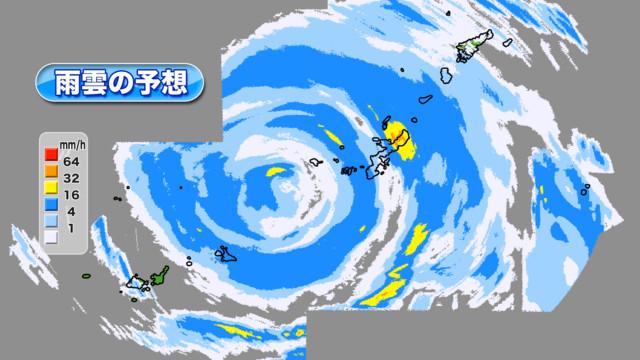 天気 レーダー 沖縄 雨雲